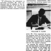 Cline Resigns as Counselor, Back to Admissiions Fulltime February_3_1970.jpg