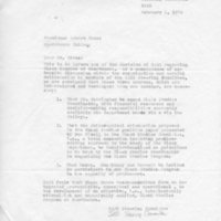 [Letter from SASS to Robert Cross 02/04/1970]