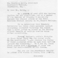 [Letter from Evelyn Hagner to Courtney Smith, 01/15/1969]