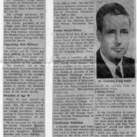 Bulletin, _Dr. Smith Dies in Swarthmore College Office,_ 1-16-69.jpg