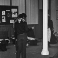 Students in Parrish Hall during the January 1969 sit-in