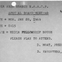 [Invitation to NAACP board meeting, 01/16/1969]