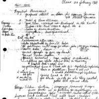 [Class notes, 02/26/1969]