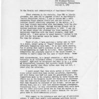 [Letter from John Morrow]