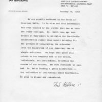 [Letter from Fred Hellers '53, 01/19/1969]
