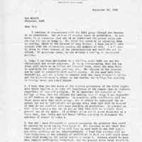[Letter from Robert Barr to Don Mizell, 09/23/1969]