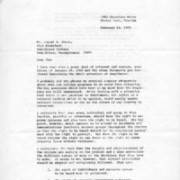 [Letter from R.L. Gould to Joseph Shane, 02/14/1969]