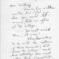 [Letter from Sidney Johnson to Courtney Smith, 01/13/1969]