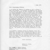 [Letter from Robert Cross to Congressman Eilberg 06/01/1971]