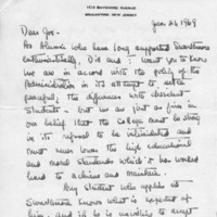 [Letter from Helen and Dill Parrish to Joseph Shane, 01/21/1969]