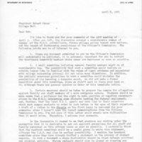 [Letter from Frederic Pryor to Robert Cross 04/08/1971]