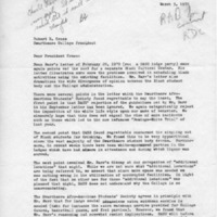 [Letter from SASS to Robert Cross 03/03/1970]