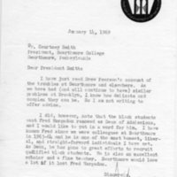 [Letter from Michael Hudson to Courtney Smith, 01/14/1969]