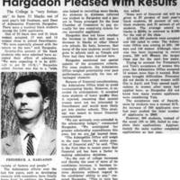 _College Admints 31 Black Frosh Hargadon Pleased With Results_ May_6_1969.jpg