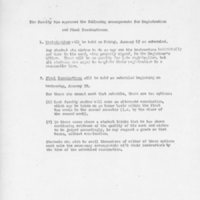 [Faculty arrangements regarding registration and final exams, 01/1969]