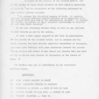 [Student Statement regarding boycotting classes, campus-wide events, 01/1969]