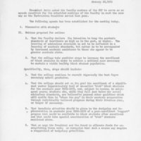 [Faculty meeting agenda 01/10/1969]