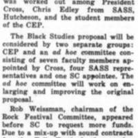 SC Reports Compromise In Black Study Proposal, Reinvestigates Rock Fest March_7_1972.jpg