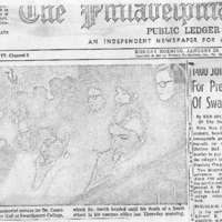 Philadelphia Public Ledger, _1400 Join Rites for President of Swarthmore,_ 20 January 1969.pdf