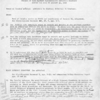 Results of SASS-Faculty Clarification Committee Meetings During the Week of January 19, 1969