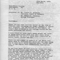 [Letter from Robert Landis '25 to Edward Cratsley, 03/24/1969]