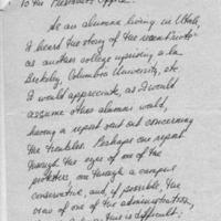 [Letter from Penelope Adelmann '66, 01/18/1969]