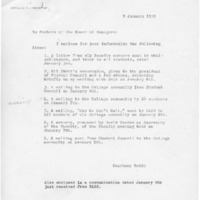 [Memorandum from Courtney Smith to Board, 01/09/1969]