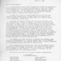 [Letter from Student Council to faculty, 03/05/1969]