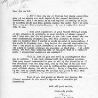 [Letter from Frances Crosby to Joseph Shane and Edward Cratsley, 02/28/1969]