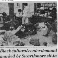 Delaware County Daily Times, _Black cultural center demand marked by Swarthmore sit-in_ 14 March 1970.pdf