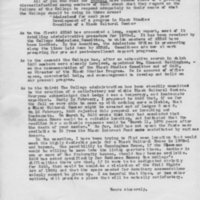 [Open letter from Robert Cross, 03/09/1970]