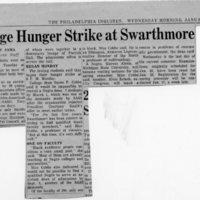 4 Stage Hunger Strike at Swarthmore