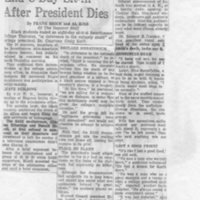 Philadelphia Inquirer, _Swarthmore Students End 8-Day Sit-In After President Dies,_ 1-17-69.jpg