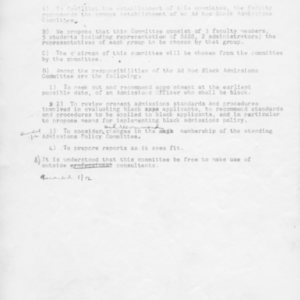 [Faculty motion, 01/11/1969]