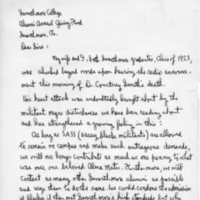[Letter from Davis Marion '23 to Alumni Annual Giving Fund, 01/16/1969]