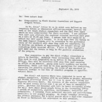 [Correspondence from William Cline re Black Student Counselors, 09/26/1969]