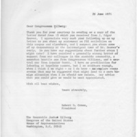 [Correspondence between Robert Cross, Congressman Eilberg, and J. Edgar Hoover, 06/1971]