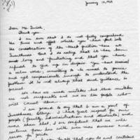 [Letter from Dori Goggin '71 to Courtney Smith, 01/12/1969]
