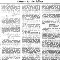 Letters to the Editor: New Libes Opens