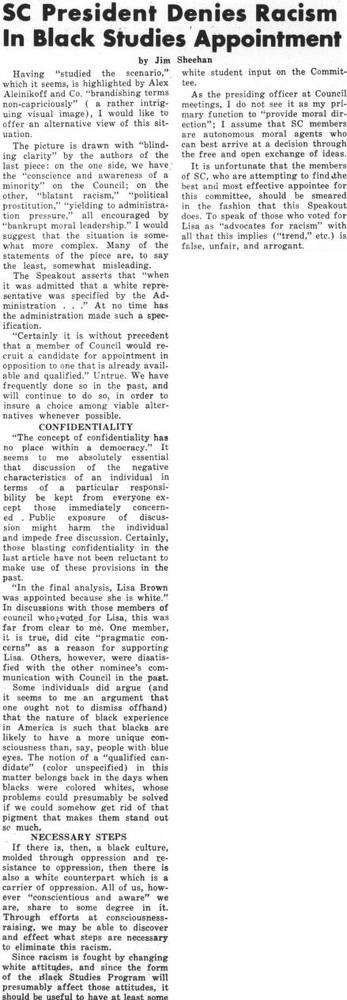 SC President Denies Racism In Black Studies Appointment October_17_1972.jpg