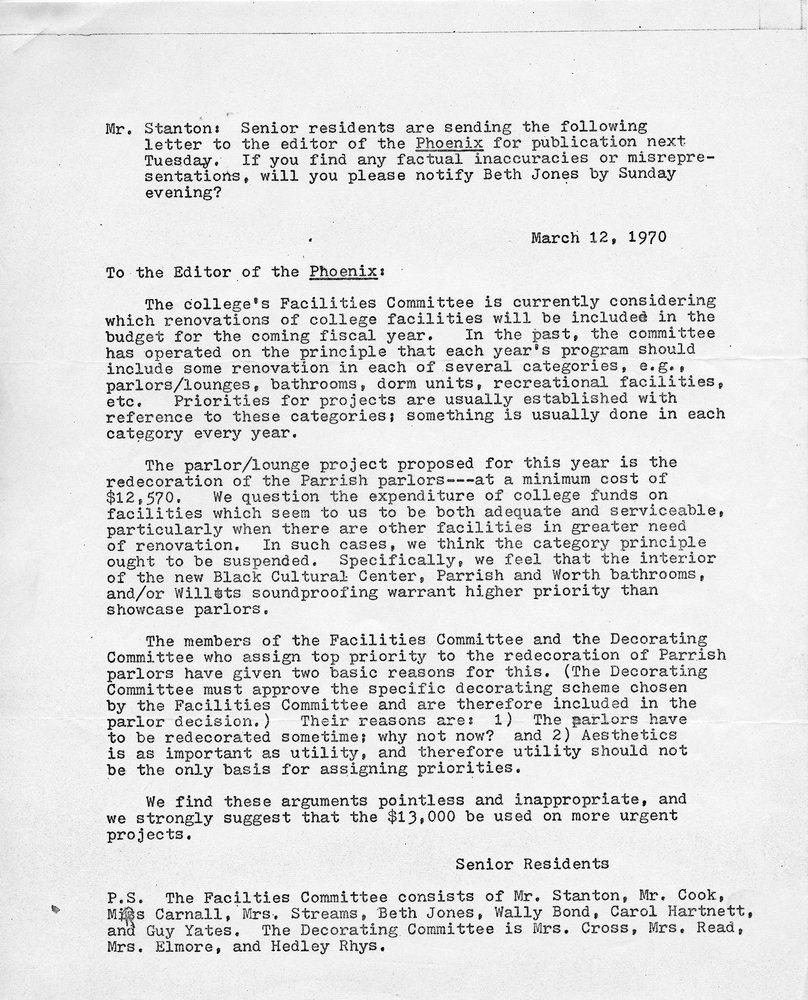Letter- Senior Residents to Phoenix, March 12, 1970.jpg