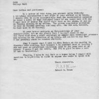 [Correspondence between Robert Cross and SASS, 03/10/1970]