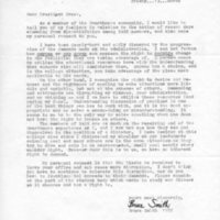 [Letter from Bruce Smith to Robert Cross, 03/13/1970]