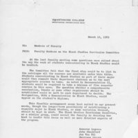 [Memo from faculty members of the Black Studies Curriculum Committee 03/10/1969]