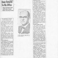 Philadelphia Bulletin, Swarthmore Dean Returns to his Office, 17 January 1969.jpg