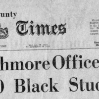 Delaware County Daily Times, _Swarthmore Office Held by 20 Black Students_ 1_10_69.pdf