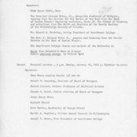 Schedule of speakers at Smith's memorial 19 January 1969.jpg
