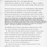 [Minutes of the Black Curriculum Committee 10/29/1968]