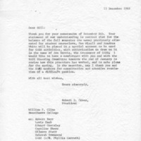 [Correspondence re Student counselors, between Robert Cross and William Cline, 12/11/1969]