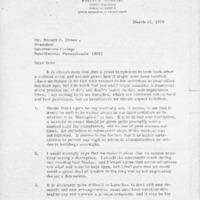 [Letter from Robert Browning to Robert Cross, 03/19/1970]